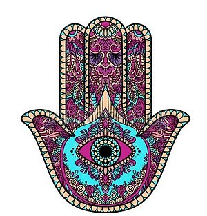 Essential Information. purple hamsa